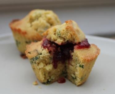 Muffins basilic fraise